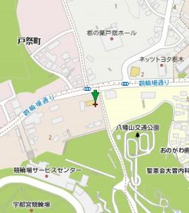 マピオン - 栃木県宇都宮市東戸祭1丁目付近 - ■中心点のマップコード:39 541 499_25